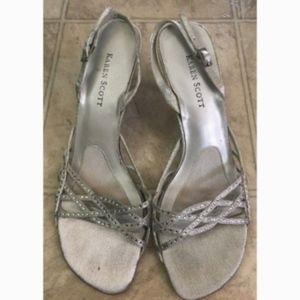 Karen Scott Silver Raquel Sandals Size 7